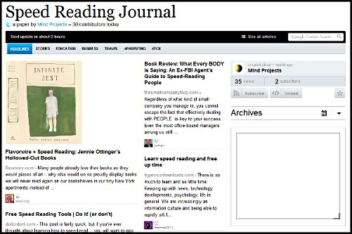 Speed Reading Journal and Memory Techniques