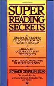 Cover Speed Reading Books - H. Berg Super Reading Secrets