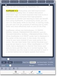 AceReader iPad - Screenshot 2